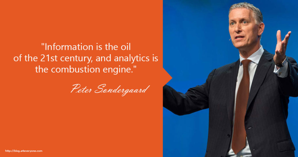 5. Peter Sondergaard has been Senior Vice President of Research at Gartner Inc. since 2004. He is responsible for the management and direction of worldwide research and is leading a team of 650 analysts.