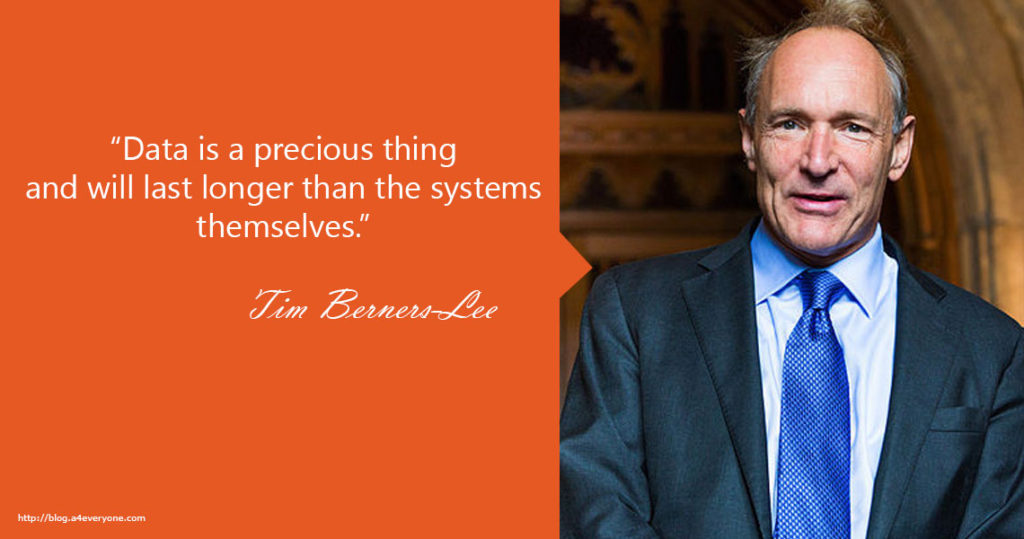 7. Sir Timothy John Berners-Lee, also known as TimBL, is an English computer scientist, best known as the inventor of the World Wide Web. He made a proposal for an information management system in March 1989,[3] and he implemented the first successful communication between a Hypertext Transfer Protocol (HTTP) client and server via the Internet sometime around mid-November of that same year.