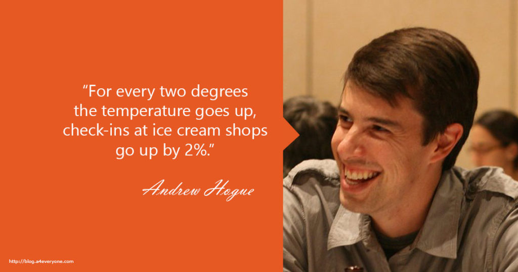 3. Andrew Hogue is currently VP Engineering at Blue Apron. Former Foursquare and Google engineer.