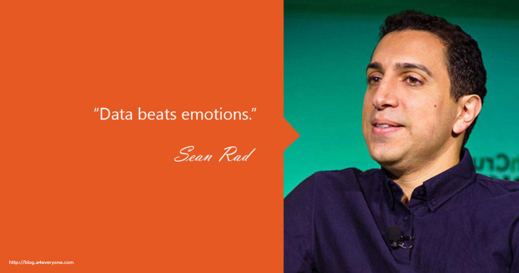 2. Sean Rad is one of the Tinder co-founders and former company CEO. After he was fired he founded Ad.ly