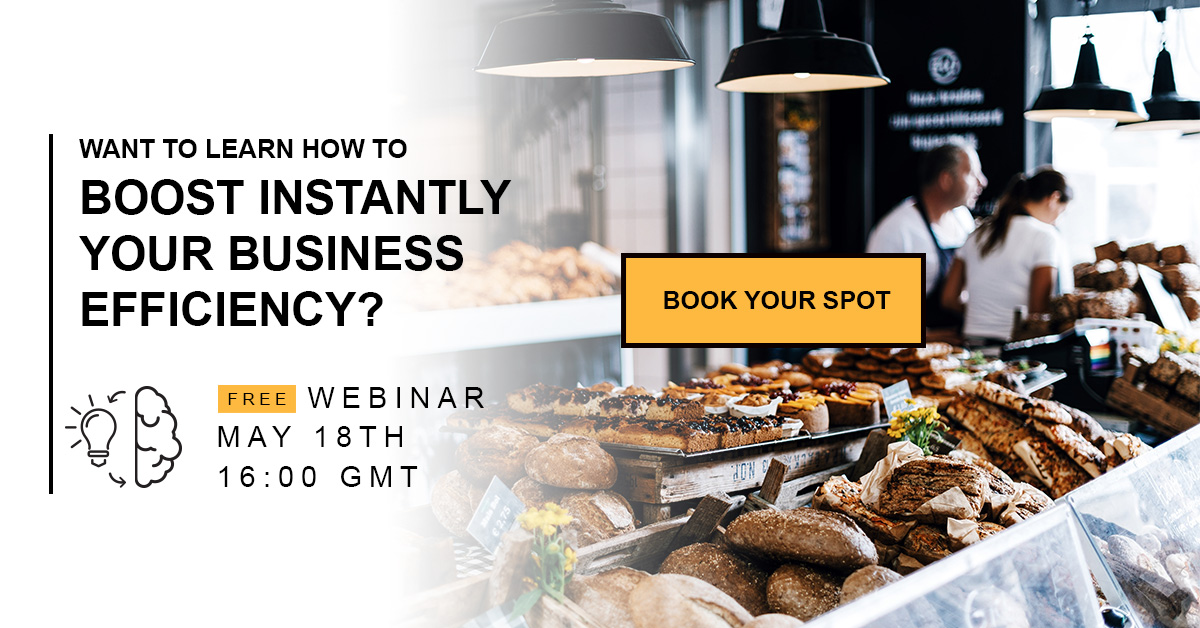 Efficiency boosting webinar for pastries, cake shops & bakeries